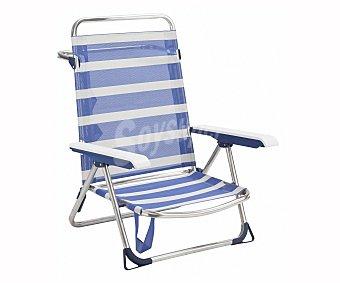 Alco Silla de playa color rayas azules y blancas, ALCO.