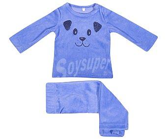 In Extenso Pijama de bebe de terciopelo, color azul, talla 68