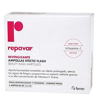 REPAVAR Repavar revitalizante ampollas Efecto Flash Pack 5x1,5 ml