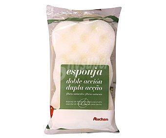 Auchan Esponja Doble Acción Fibra Natural 1 Unidad