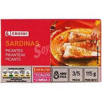 Eroski Sardina picantes Lata 80 g