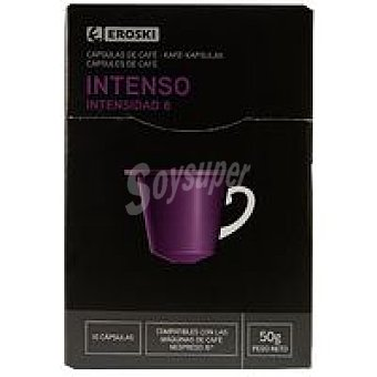 Eroski Café intenso Caja 10 monodosis (50 g)