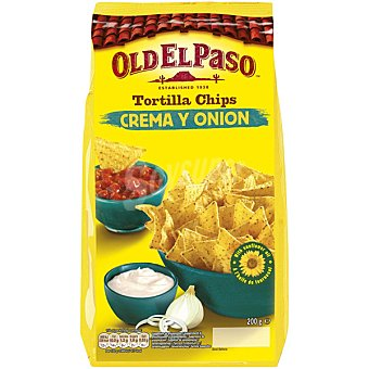 OLD EL PASO Tortilla chips crema y onion bolsa 200 g