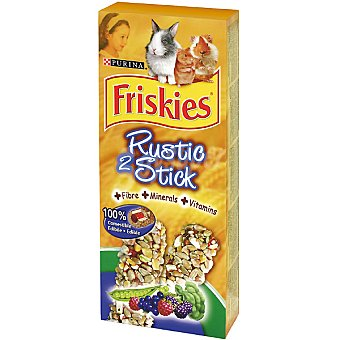 Friskies Purina Rustic Stick barritas para roedores con frutas y verduras paquete 75 g 2 unidades