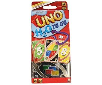 UNO Juego de cartas de viaje, de 2 a 7 jugadores Uno h2o to go 1 unidad