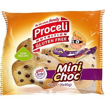 Proceli Bollos con pepitas de chocolate sin gluten Minichoc 4 unidades (envase 160 g)
