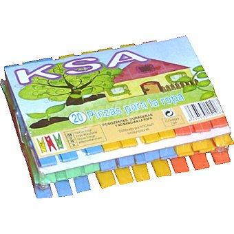 KSA Pinzas para la ropa de plástico Paquete 20 unidades