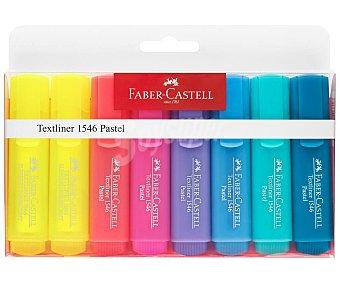 Faber Castell Marcador fluorescente surtido en colores pasteles, 8 uds, grosor de 1-2-5 mm, FABER CASTELL. 8 uds