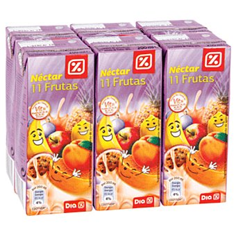 DIA Nectar 11 frutas pack 6 briks 20 cl Pack 6 briks 20 cl