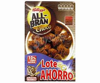 Kellogg's All bran Cereales Fibra Chocolate 2x375g