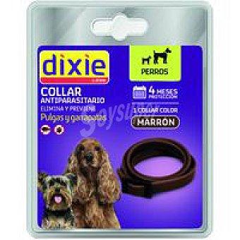Dixie Collar marrón antiparasitario para perro Pack 1 ud