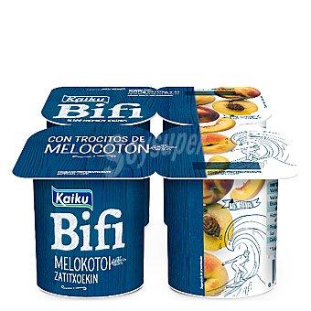 Kaiku Bifi Activium con melocotón Pack 4x125 g