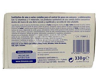 Bimanan Batido de fresa 5 sobres 312 gramos