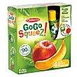 Zumo Manzana / Plátano Pack de 4x90 g Gogo Squeez
