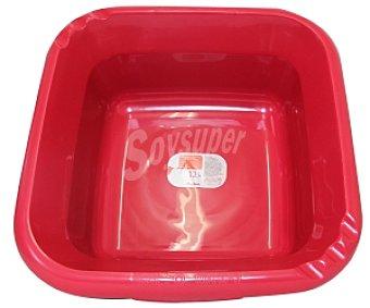 Auchan Barreño cuadrado Rojo 12 Litros 1 Unidad