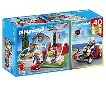 PLAYMOBIL Playset de Construcción City Action, Set Aniversario Compact Bomberos+Quad, Modelo 5169 1 Unidad