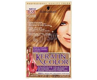 Keratin Color Schwarzkopf Tinte rubio claro ámbar Nº 8.65 1 unidad