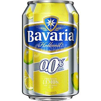 BAVARIA 0,0% cerveza sin alcohol malta-limón Holanda  lata 33 cl
