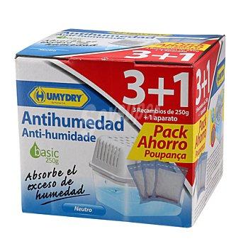 Humydry Antihumedad recambio Pack 3x250 g