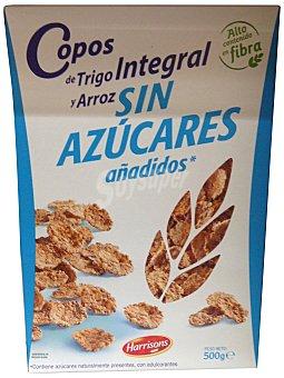 Harrisons Cereal copos arroz trigo integral sin azúcar añadido Caja 500 g