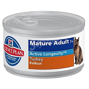 HILL'S SCIENCE PLAN MATURE ADULT Alimento en pate para gato adulto mayor de 7 años con pollo lata 85 g Lata 85 g