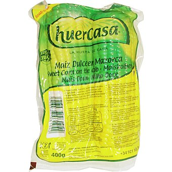 Huercasa Maíz dulce cocido en mazorca Bandeja 400 g