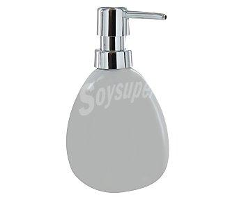 WENKO Dosificador de jabón gel, modelo Polaris, fabricado en cerámica, color blanco 1 Unidad