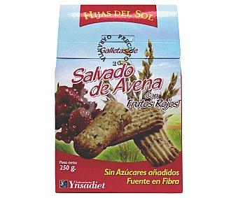 HIJAS DEL SOL Galletas de salvado de avena con frutos rojos 250 Gramos