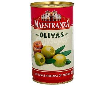 Maestranza Aceitunas verdes rellenas de anchoa Lata de 150 grs