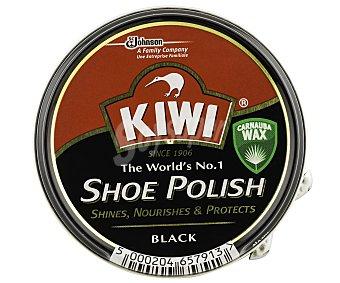 Kiwi Crema color negro para calzado Tarro 50 ml