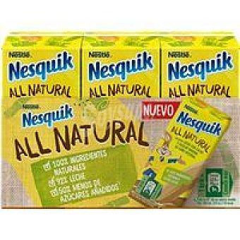 Nesquik Nestlé Batido de cacao all natural Pack 3 x 180 ml