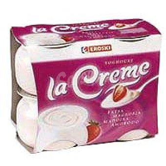 Eroski Yogur cremoso de fresa La Creme Pack 4x125 g