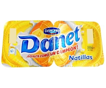 Danet Danone Natillas de Vainilla 2 Unidades de 125 Gramos