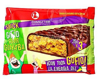 Comeztier Barritas de gofio sabor guayaba 3 uds. x 25 g