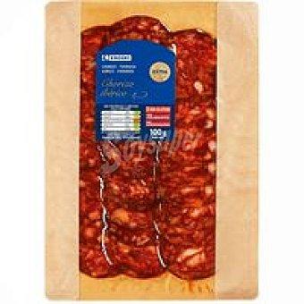 Eroski Chorizo ibérico Sobre 100 g