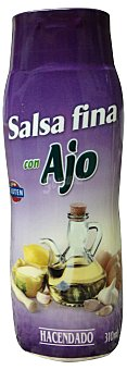 HACENDADO SALSA FINA CON AJO BOTE 310 g