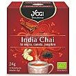 India Chai té negro con canela y jengibre ecológico, sin gluten y sin lactosa Estuche 12 bolsitas Yogi Tea