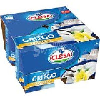 CLESA Griego de vainilla Pack 4x125 g
