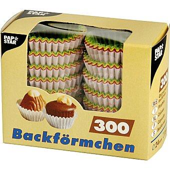 Papstar Moldes para magdalenas de color 24x16 cm paquete 300 unidades Paquete 300 unidades