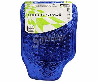 CAR FACTORY Alfombrilla universal de goma, de color color azul con efecto metal, modelo Tunning Style 1 unidad