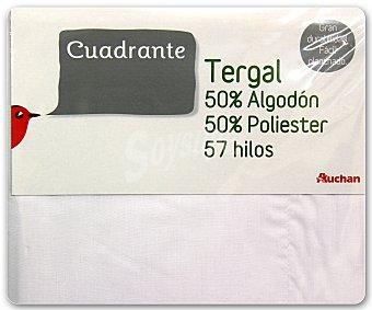 Auchan Funda para almohada individual, 55x55 centímetros, color blanco 1 unidad