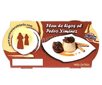 LA COBIJADA Flan de higos al Pedro Ximénez Pack de 2 Unidades de 70 Gramos