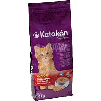 KATAKÁN Alimento para gatos Select Junior con pescado y cereales  Bolsa de 1,5 kg