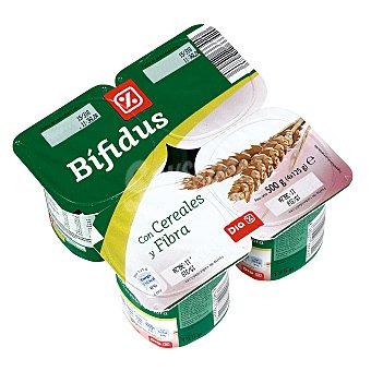 DIA Yogur bífidus con cereales y fibra Pack 4 unidades 125 gr
