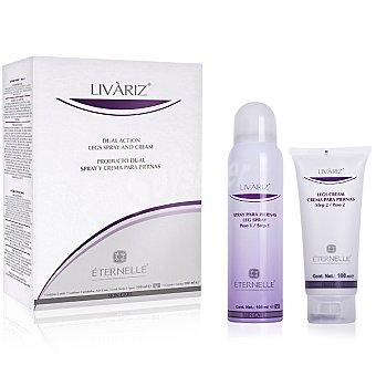 LIVARIZ kit spray con crema cuidado de las piernas anti varices envase 200 ml