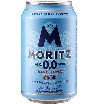 Moritz Cerveza agua de 0,0 Lata 33 cl