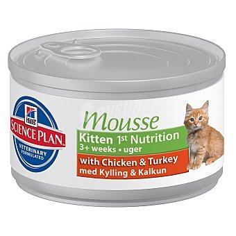 Hill's Alimento húmedo en mousse de pollo y pavo para gatitos Lata 85 g