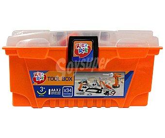 Rik&Rok Auchan Caja de Treinta y Cuatro Herramientas 1 unidad
