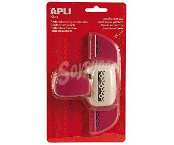 APLI Perforadora lateral de papel con forma de flor, bl+rs, con depósito 1 unidad