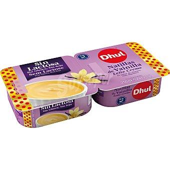 Dhul Natillas de vainilla sin lactosa, sin gluten y sin soja 2 x 125 g